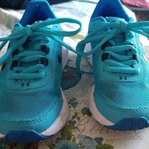 Under Armour turquoise shoes